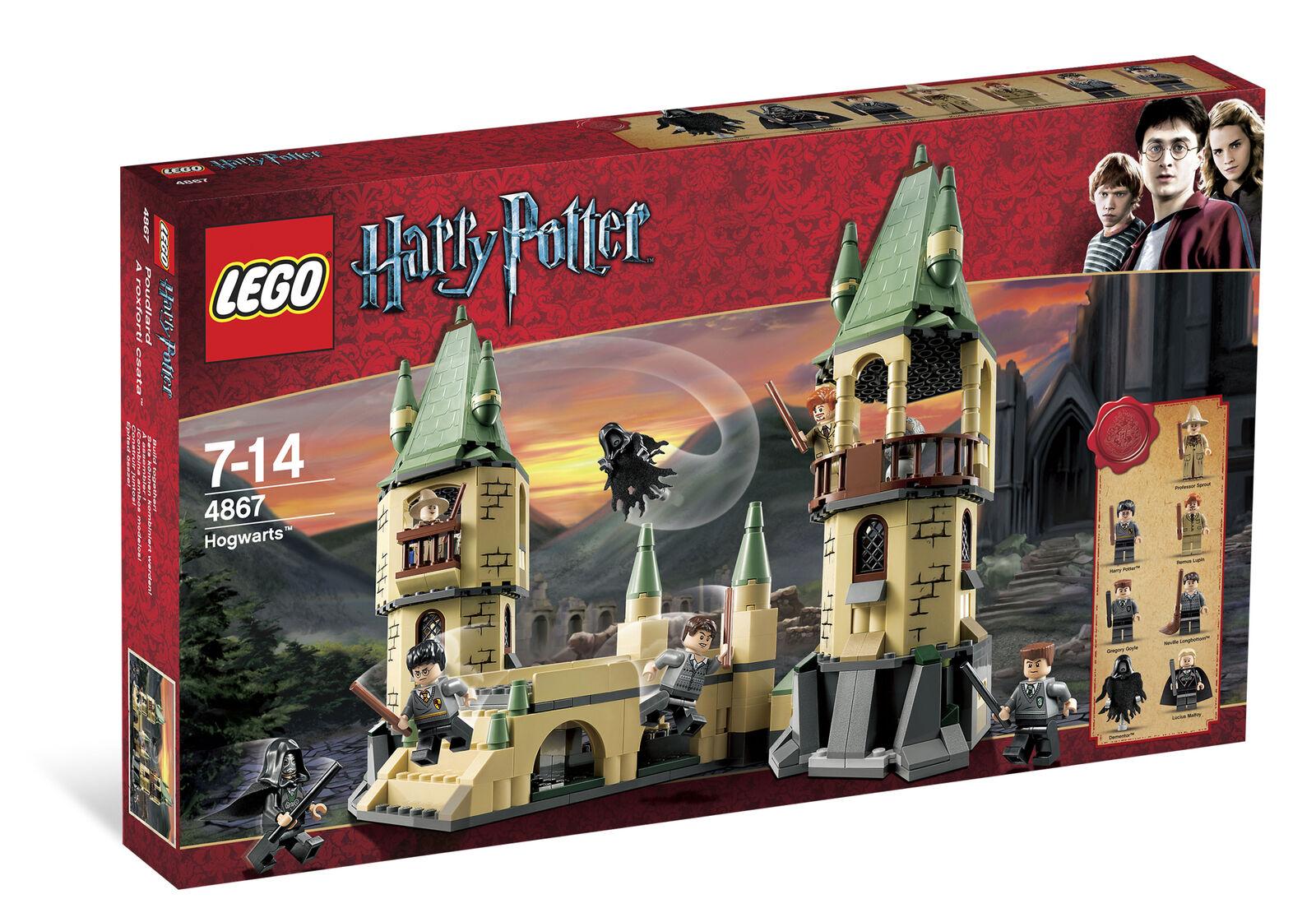 Nuevo LEGO 4867 Harry Potter Hogwarts Castillo Sellado 7 Minifiguras Costco Exclusivo