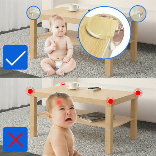 10 Baby Proofing Safe Glass DeskTable Edge Corner Cushion Guard Protector Bumper