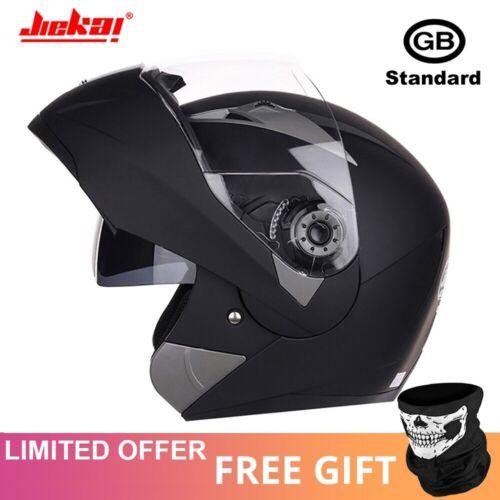 2020 New Motorcycle Full Face Helmet Modular Flip up Dual Shield Inner Sun Visor