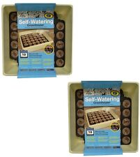 (2)  ea Jiffy T34H 34 Cell Self Watering Greenhouse Seed Starting Trays