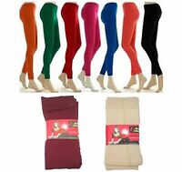 LADIES THERMAL LEGGINGS FULL LENGTH FLEECE LINED THICK FOOTLESS TIGHT UK 8-12