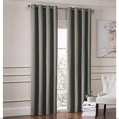 Garland 108-Inch Lined Grommet Top Room Darkening Window Curtain Panel in Pewter