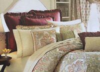 Waterford Delaney Burgundy Ruffle Euro Sham Pillow Sham