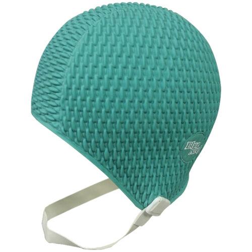 BLUE REEF Bubble Plain Ladies Vintage Retro Trendy Fancy Swim Cap Swimming Hat
