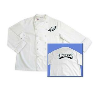 Philadelphia Eagles NFL Classic Chef Chefs Coat Jacket Tailgate - Sizes: M L XL