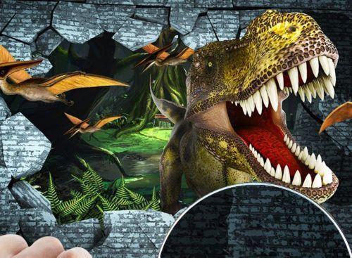 3D Große Mund Dinosaurier 83 Tapete Wandgemälde Tapete Tapeten Bild Familie DE