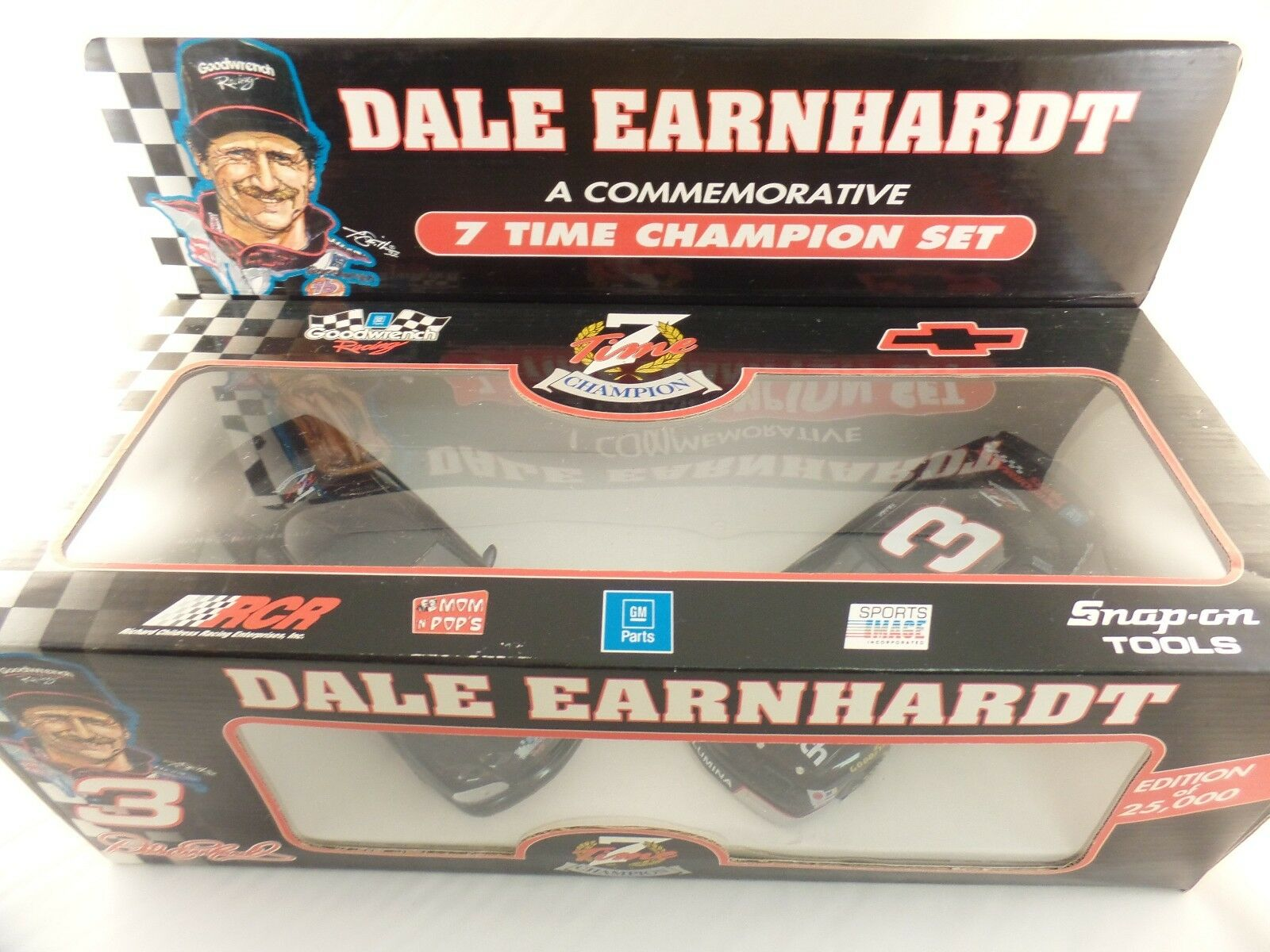 New 1995 1 25 Brookfield NASCAR Dale Earnhardt Sr 7 Time Champion Lumina Set