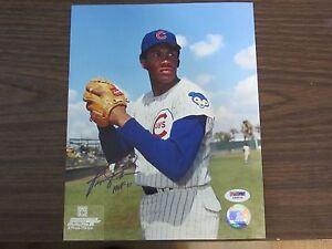 Fergie-Jenkins-Autograph-Signed-8-x-10-Photo-Chicago-Cubs-HOF-91