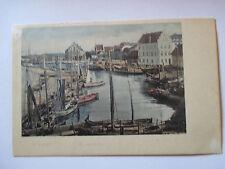 alte Ansichtskarte Wismar um 1900 Fischerhafen , nicht gelaufen