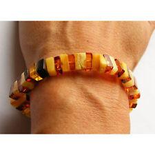 Armband, Bernstein, MULTICOLOR, poliert, Kugel, Balls, Beads Amber Bracelet NEU