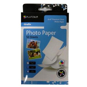 Premium-Photo-Paper-Grafix-Platinum-6-x-4-50-Sheets-220gsm-Gloss