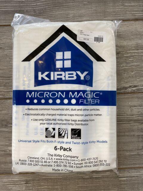 Kirby Vacuum Bags 204811 Vacuum Filter Bags Hoover Micron Magic Bag x 6 Genuine