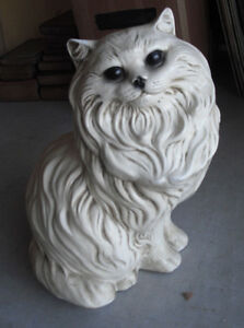big vintage 1973 gallery creations white persian cat statue 14 tall