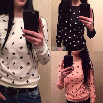 Fashion Women Long Sleeve Casual Loose T-shirt Tops Sweatshirt Blouse Ladies New