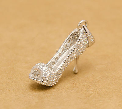 925 plata encanto diminuto delicado zapato/collar Disney Cenicienta Zapatilla