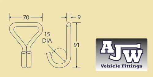 4 Gancho Garra De Alambre De Acero 50mm Correa de Trinquete de 3 toneladas de cincha de recuperación de Camión Remolque