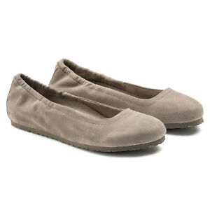 aa4858b39e99 Details about BIRKENSTOCK CELINA WOMEN S BALLET SHOES ROSE TAUPE BLACK NAVY LEATHER  FLATS