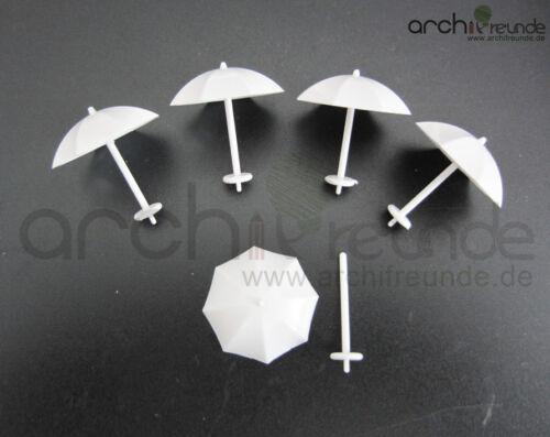 blanco 5 x modelo paraguas para modelismo y maquetas de pista h0 pista Z 1:200