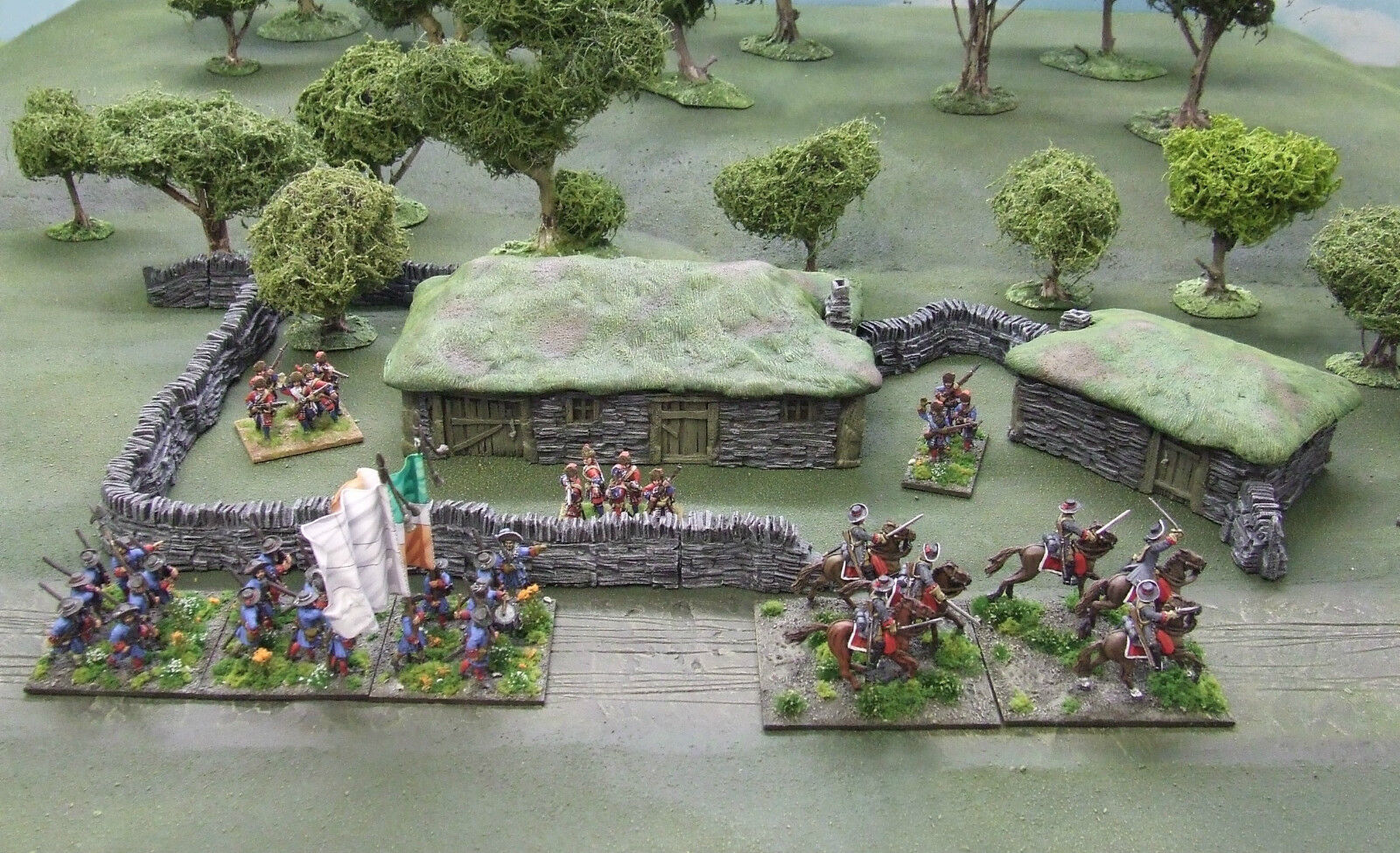 28MM 'CROFTER'S HAMLET'  - RESIN CASTING - Painted to collectors standard.