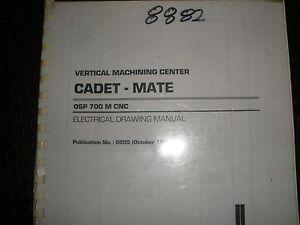 okuma cadet mate vmc with osp700m control electrical drawing manual rh ebay com Okuma Control Auto Mode Okuma Control Modes