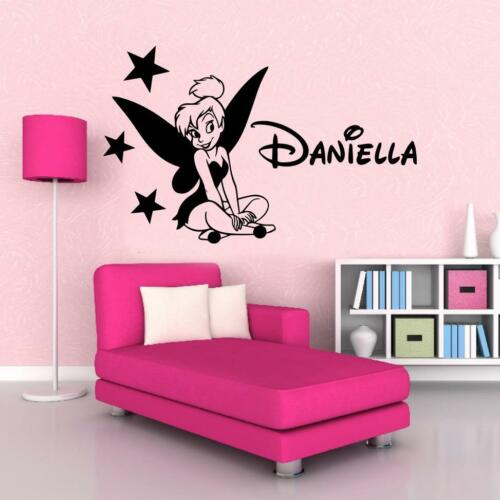Tinkerbell Personalized WALL STICKER Decal Art Mural Stencil Silhouette ST132