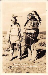 D80-Native-American-Indian-Chiefs-RPPC-Postcard-Thunder-Cloud-Big-Tree-1940s-19