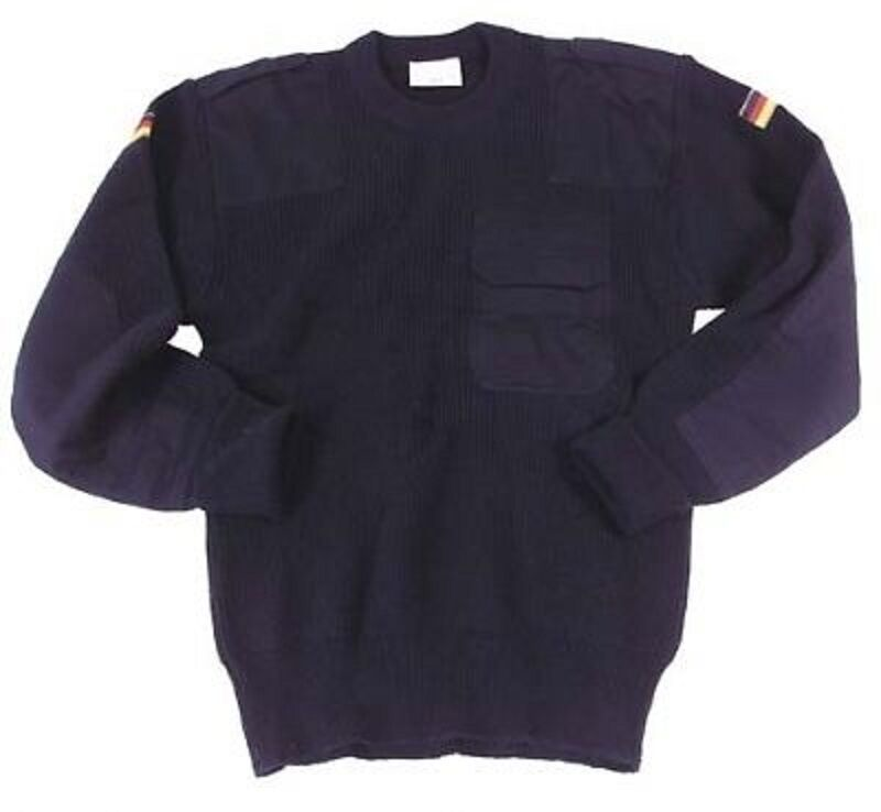 Esercito tedesco MARINE BW MARINE tedesco LUFTWAFFE German Army Sweater Pullover Blu Tg. 48 fb0291