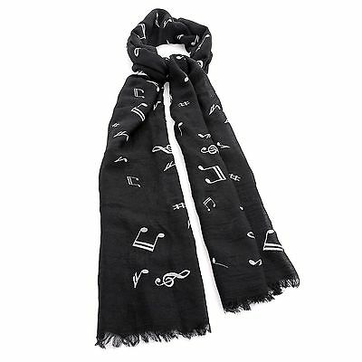 Black and white musical note scarf Ladies//Women Shawl Wrap  Style Scarf