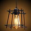 thumbnail 9 - Industrial-Vintage-Metal-Cage-Ceiling-Pendant-Light-Holder-Lamp-Shade-Fixtures