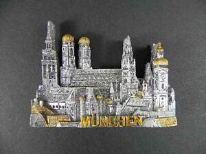 Magnet-Muenchen-Munich-Marienplatz-Polyresin-Souvenir-Germany-Deutschland-NEU