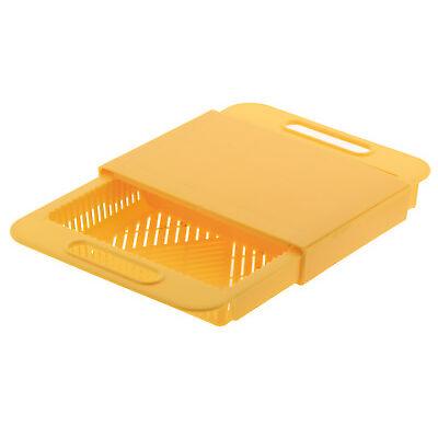Tagliere da lavandino con cestello per colare e tagliare arancio plastica rigida