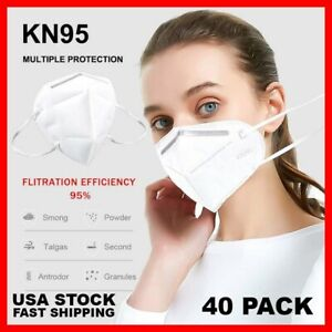 40 PACK K-N95 Face Mouth Mask Mouth Nose Cover- AUTHORIZED SELLER - USA STOCK