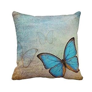 Image Is Loading Pop Erfly Cotton Owl Linen Pillow Case Sofa
