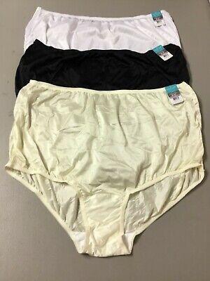 NWT Women's 3 Vanity Fair Nylon Briefs Size 11 4XL Fawn #1005L