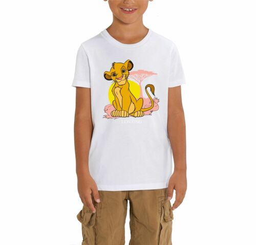 The Lion King Simba Pastel Children/'s Unisex White T-Shirt