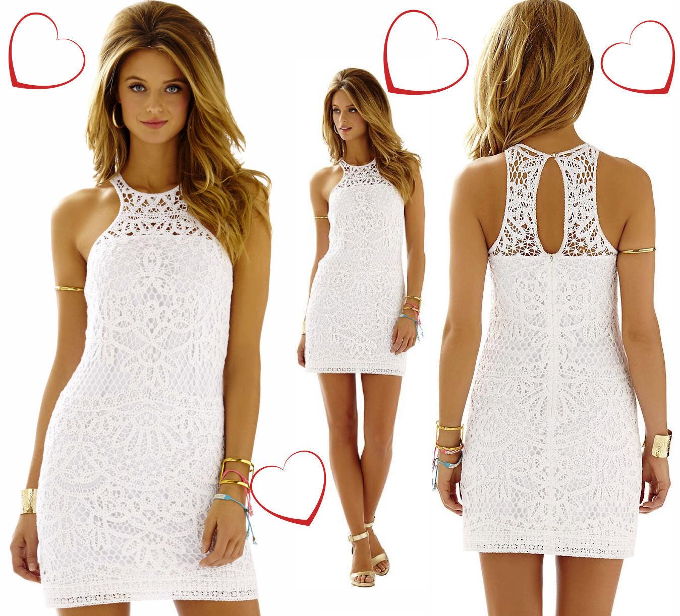 248 Lilly Pulitzer Jaimie Resort White Dress XS S M L 63837e