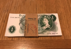 BU-1967-1970-039-s-Banca-Inghilterra-una-sterlina-1-ORIGINALE-nota-da-consecutivi