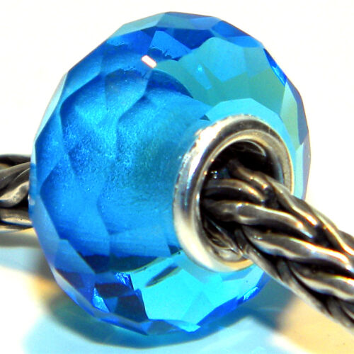 MURANO GLASS BEAD PRISM 925 STERLING SILVER FIT EUROPEAN CHARM BEADS  671