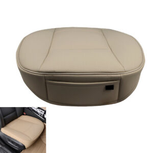 Beige-Universal-Car-Front-Seat-Cover-PU-Leather-Breathable-Chair-Cushion-Mats