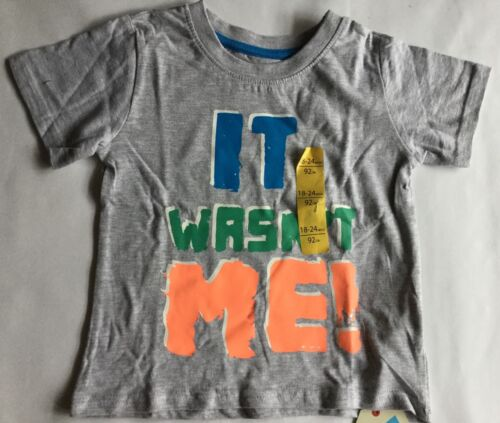 Baby boy Grey T Shirt with It Wasn/'t me detail