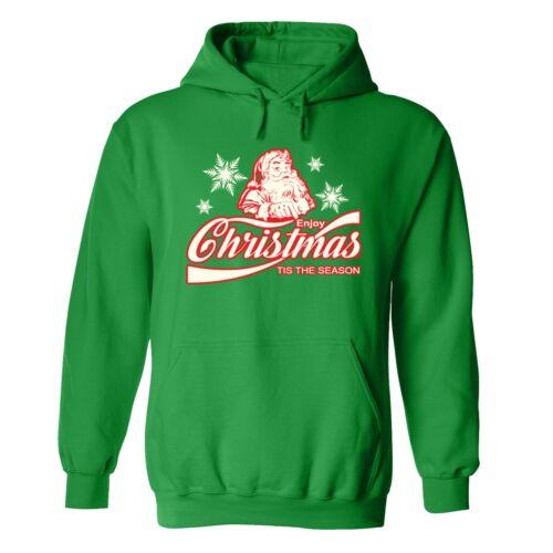 UGLY CHRISTMAS SWEATER Vacation Santa Funny unisex Men Women Hoodie Hoody GREEN