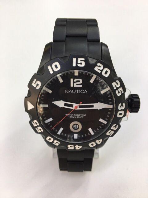Nautica Men's Bfd 100 N20095G Black Stainless Steel Japanese Quartz Watch