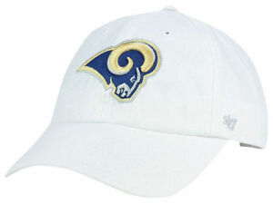 sports shoes 297f2 ccc46 Image is loading Los-Angeles-Rams-Women-039-s-White-hat-