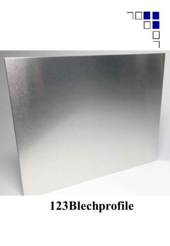 3 Tafeln 1,5mm Aluminium 1000x2000mm einseitig mit Schutzfolie Preis//m²19,16EUR