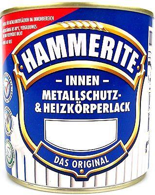 12€/L 0,5L Hammerite Metallschutzlack & Heizkörperlack innen Metall Heizkörper L