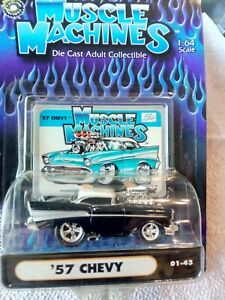 Muscle Machines /'57 Chevy Pink 01-25 1:64 1//64