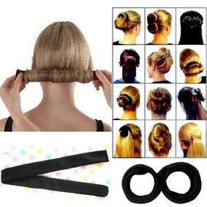 Fashion-Hair-Styling-Donut-Former-Foam-French-Twist-Magic-Tool-Bun-Maker-SALE