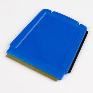 2x Eiskratzer MURSKA Eisschaber Trapez Messingklinge Messing Finnland blau 2 St