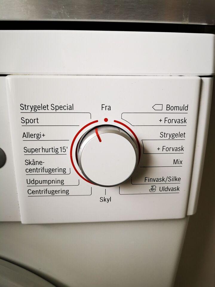 Bosch vaskemaskine, Serie 4, frontbetjent