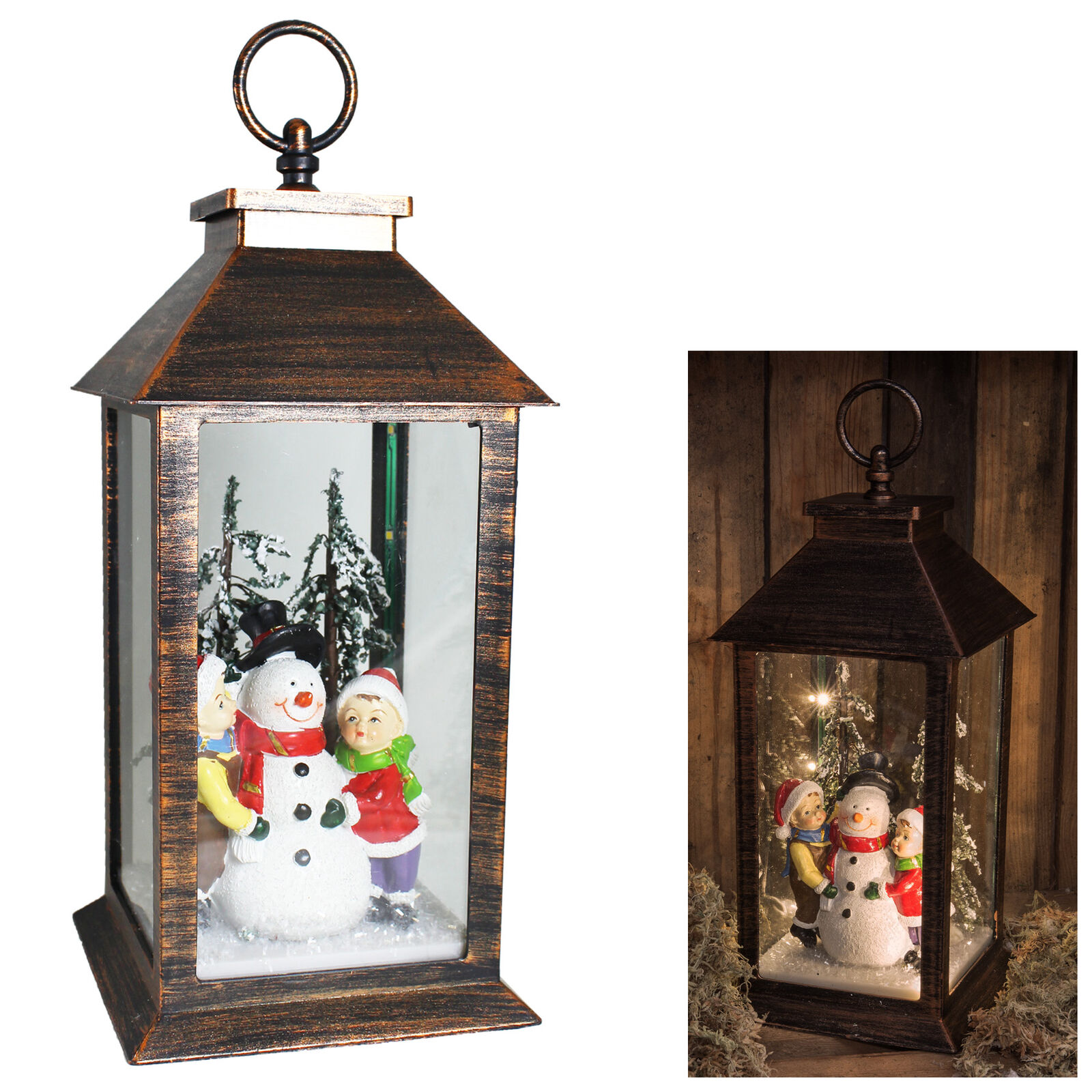 Christmas Snowman 30cm Lantern Light up Battery Operated Decoration